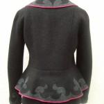 taillierte Jacke  mit Schößchen in Tuch-Intarsientechnik