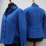 taillierte Jacken mit Biesen und Patchworkeinsätzen
